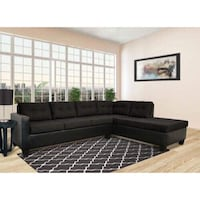 black leather sectional sofa with throw pillows Wilmington, 28401