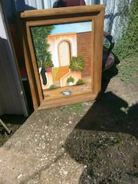 brown wooden framed mirror with mirror San Angelo, 76903