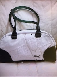 white and black leather tote bag Brampton, L6V 0R6