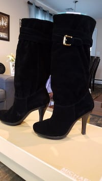 Michael Kors Black Suede Leather Boots-NEW-only worn 2xs-Size 8.5M Iselin, 08830