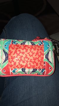 assorted-color fish printed wristlet