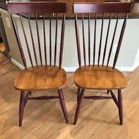 2 New hard wood dining chairs Ashburn, 20147