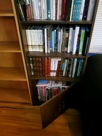 Wooden Bookcase with cabinet