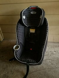 black and gray Graco booster seat Mission, 78572
