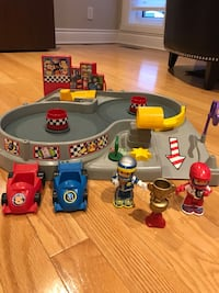 Fisher Price race track toy set