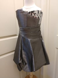 Formal Gray Sequin Dress Size 3 Shaw Air Force Base