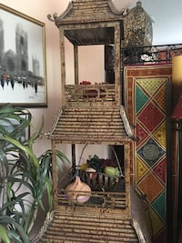 Very unusual and very rare Maitland Smith Pagoda Bar in Excellent Condition  Trinity, 34655