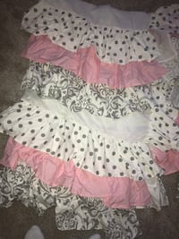 Custom made baby crib skirt