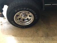 6 lug 16x10 wheels and tires have all for shine up really nice no scratches with locking lugs Delta, 71282