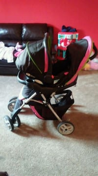 baby's black and pink stroller Washington, 20001