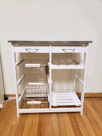 white wooden 3-layer rack New Hyde Park, 11040