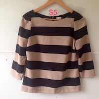 black and brown stripe sweater Winnipeg, R2P 0E3