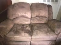 brown suede 3-seat recliner sofa Slidell, 70458