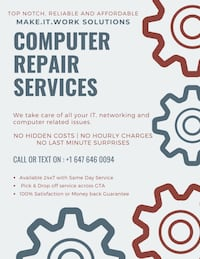 Computer repair Service | TV wall mounting Vaughan