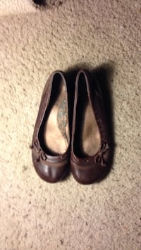 pair of brown leather flats Logan, 84321