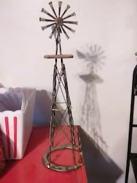 black steel windmill theme table decor Saint Francis, 67756