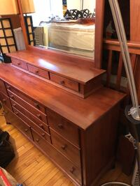 All wood dresser with mirror 27 km