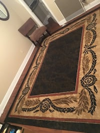 black, brown, and gray floral area rug Slidell, 70461