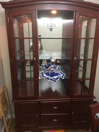 China cabinet has lights  has matching table and 6 chairs can be sold separately, moving sale put in your best offer  Surrey, V3Z 1E3