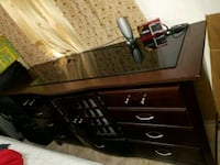 black and brown wooden dresser Miami, 33155