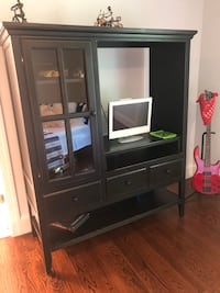 Black wall unit tv stand Rumson, 07760