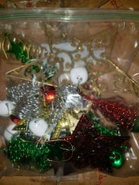 Bag of Christmas ornaments used but in good condit Frederick