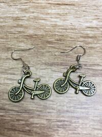 Handmade Bicycle Earrings