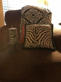Black & White Throw with Zibra pillow and candle Mount Pleasant, 29466