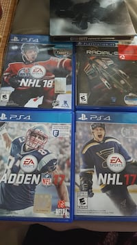 Four assorted ps4 games Collingwood, L9Y 0H8