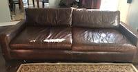 Restoration Hardware, Maxwell Leather Sofa Sterling, 20165