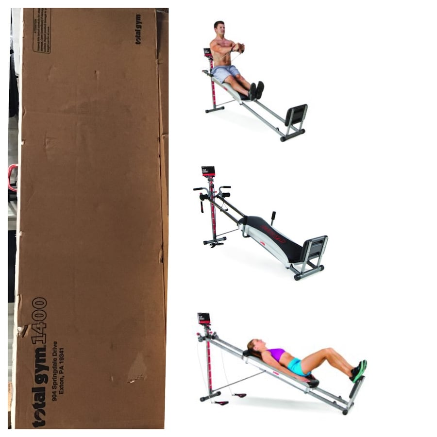 Total Gym 1400 Total Home Gym with Workout DVD - Full Body Workout