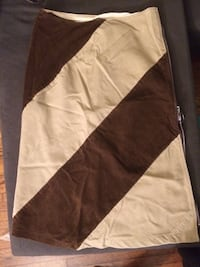 Upcycled Beige and brown stripe skirt