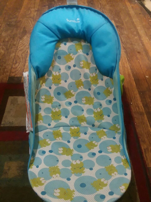 blue and green Summer floral bather