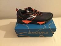 Brooks Cascadia 13 Men's Running Grey, Black, Orange (9M) Brand New Woodbridge, 22191
