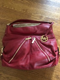 Red Leather Michael Kors Shoulder Bag Centreville, 20121