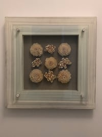 Wooden framed dried flowers in thick glass casing Toronto, M4R 1G7