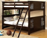 Full over Full Bunk Bed with Mattresses  Ontario