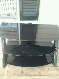 black and gray TV stand Gibsonton, 33534