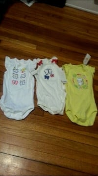 3 Baby Girls Gymboree Onesies.size 6-12 months.Brand new Windsor