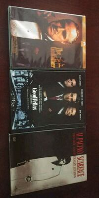 Gangster DVDs - The Godfather - Scarface - Goodfellas