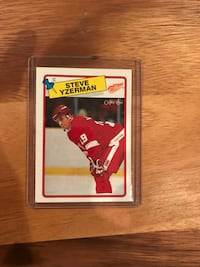 1988-89 Steve Yzerman Hockey Card Calgary, T2M 2P2