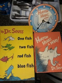 LOT of Dr Suess: Clock & Two Book Boxes - Horton Hears a Who! Baltimore, 21223