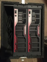 2 Crown CE2000 amplifiers and hard shell travel case Edgewood, 21040