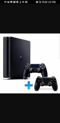 black Sony PS4 console with controller (brand new)