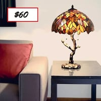 """AJ - Brand New - Dowson Tiffany Style Stained Glass 24.5"""" Table Lamp Mississauga"""