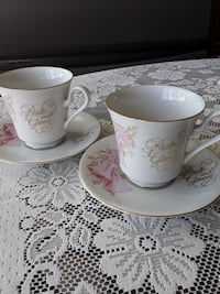 Bride and Groom fine china tea cup and saucer set Val-des-Monts, J8N 7T1