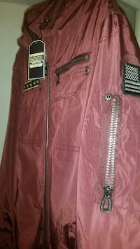 maroon Civil zip-up jacket