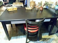 rectangular black wooden table with four chairs dining set Middleport, 14105
