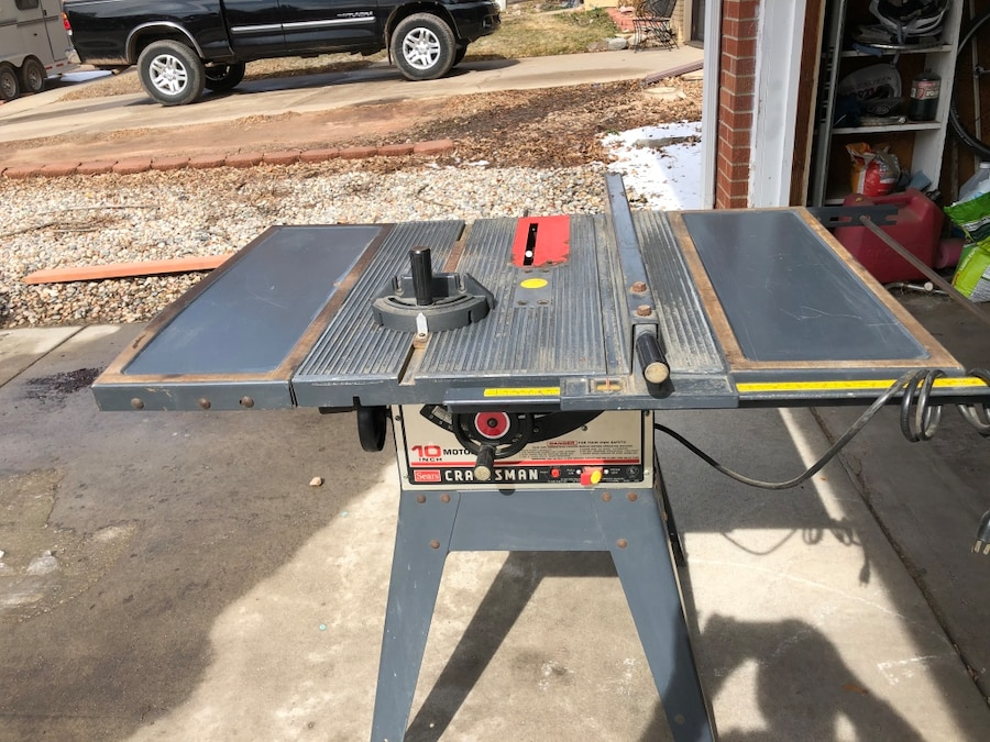 Photo 10 inch Craftsman table saw