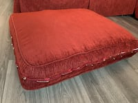 "Restoration Hardware Sectional Couch, Maroon Fabric, 8' x 5'2"", $600! Washington, 20003"